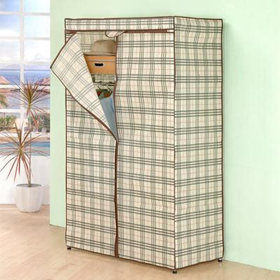 《百變金鋼》90*45*165三層防塵衣櫥架