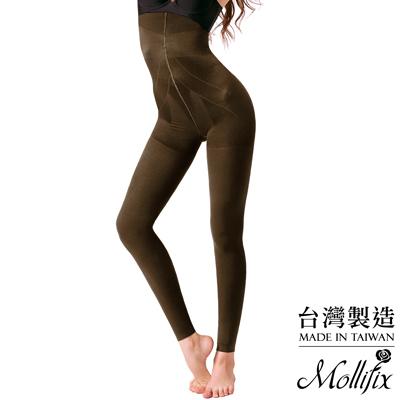 Mollifix 恆溫美型提拉翹臀刷毛塑型褲(栗棕咖)