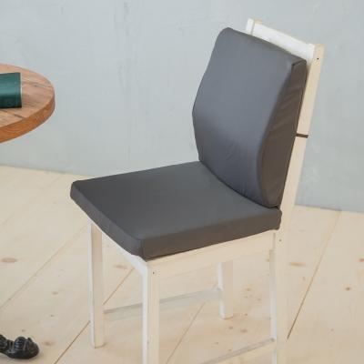 凱蕾絲帝-台灣製造-久坐良伴柔軟記憶護腰墊+高支撐坐墊兩件組-深灰