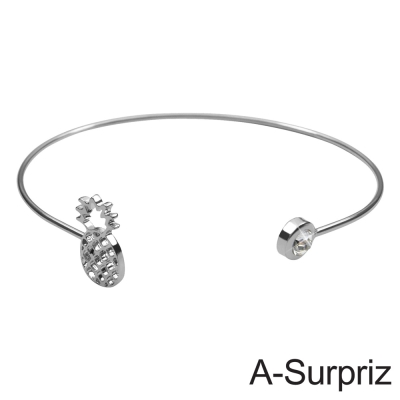 A-Surpriz  好運旺來造型開口手環(白K色)