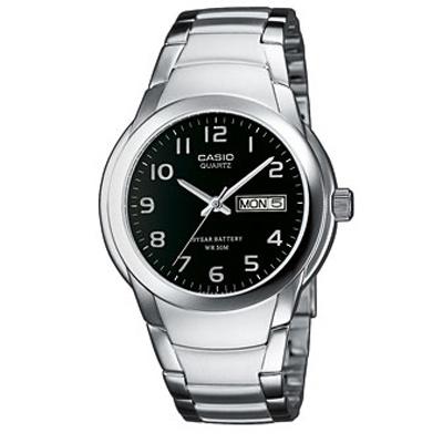 CASIO 世界富豪指針紳士錶(MTP-1229D-1A)-黑
