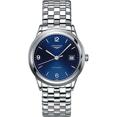 LONGINES Flagship 經典機械腕錶(L48744966)-藍/38.5mm