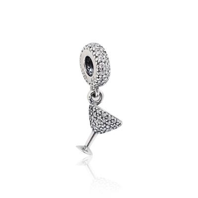 Pandora 潘朵拉 垂墜鋯石水果雞尾酒杯 純銀墜飾 串珠