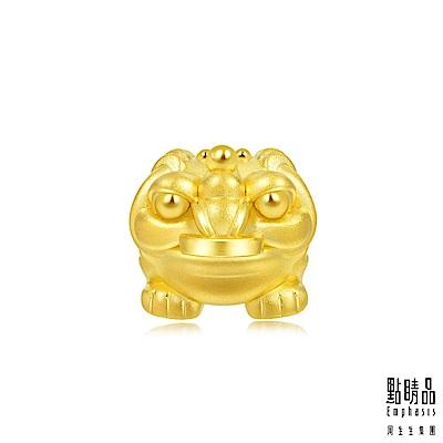 點睛品  Charme 文化祝福 招財金蟾蜍 黃金串珠