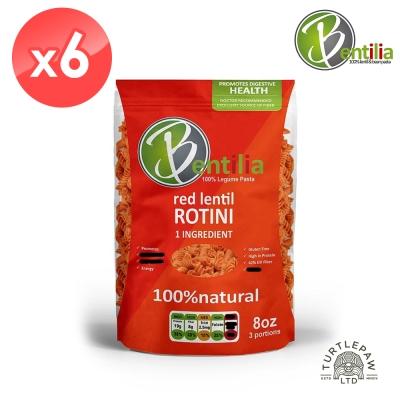 BENTILIA 美國原裝進口紅扁豆義大利螺旋麵6包 (225公克*6包)