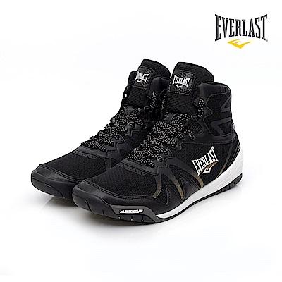 EVERLAST 專業拳擊鞋-男-黑/金