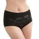女內褲 極品竹炭無縫高腰三角內褲/黑 (超值3入) 源之氣