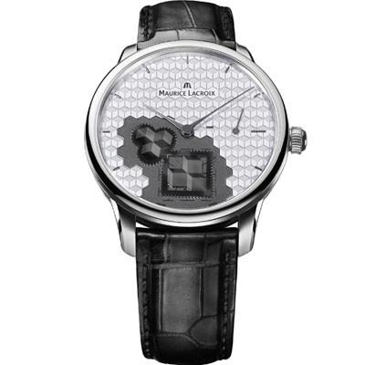 Maurice lacroix 艾美 匠心系列方輪立方機械錶-白x黑/43mm