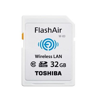 TOSHIBA 32G FlashAir SDHC C10 Wifi無線傳輸記憶卡W-03