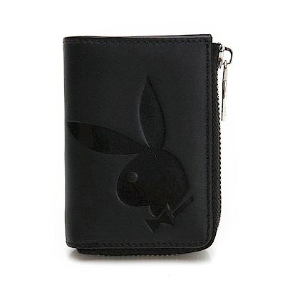 PLAYBOY- 零錢包 大兔頭LOGO系列-經典黑