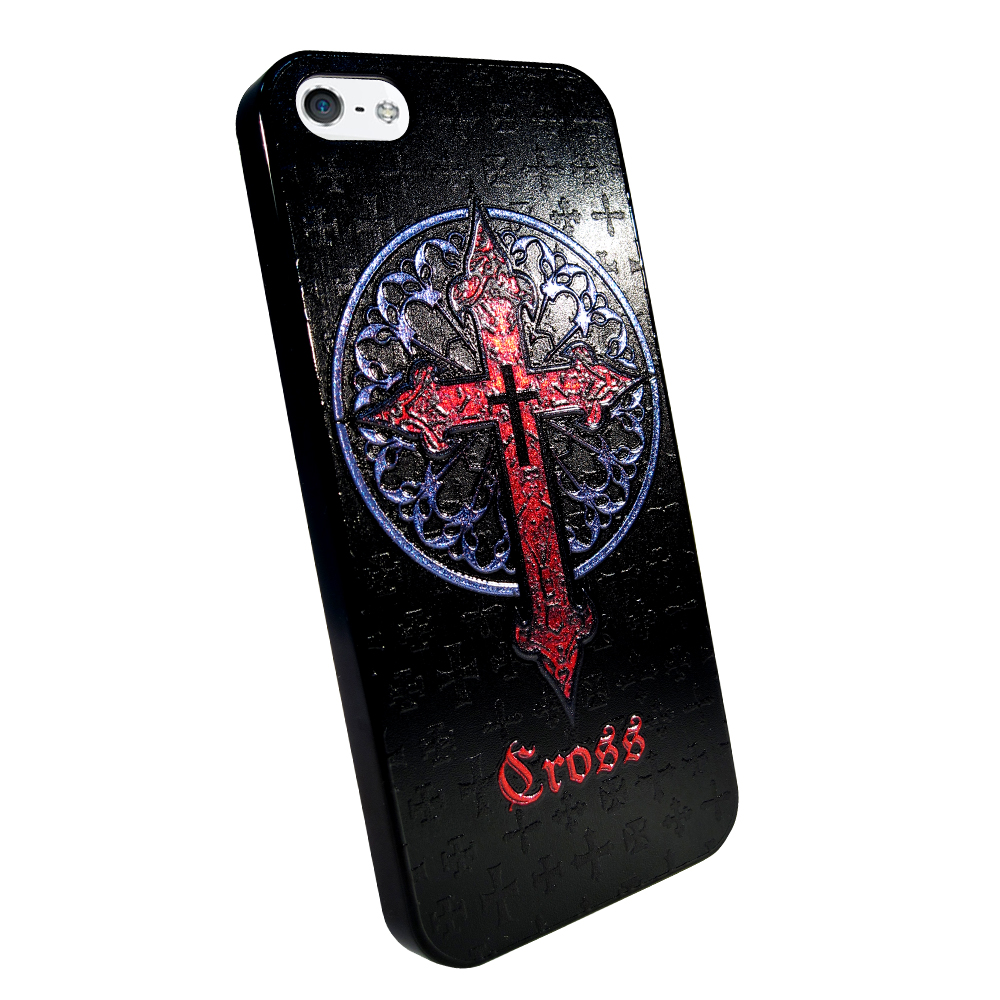 ibowmore Apple iphone 5S SE 5彩繪設計款手機殼十字架
