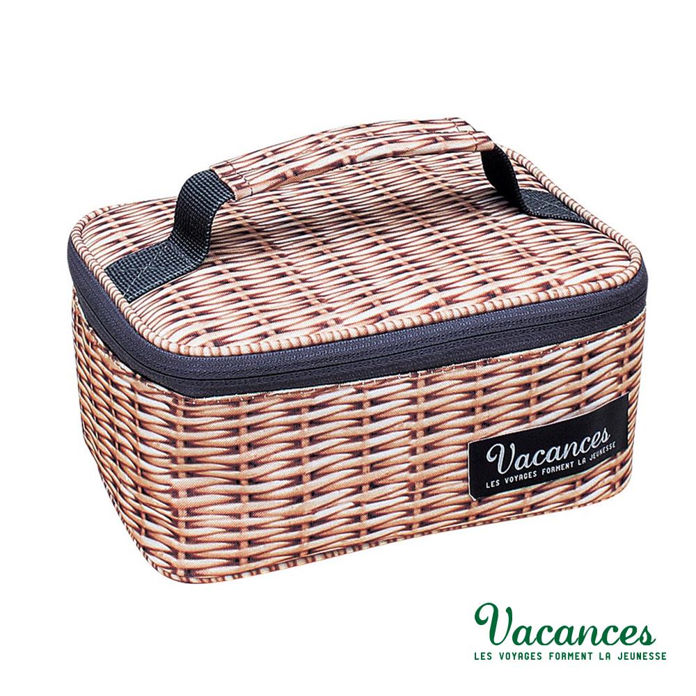 【日本 VACANCES】 日系 輕巧時尚 多功能 棕色 保溫 便當袋 / 便攜袋