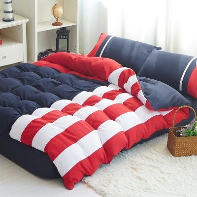 生活提案-糖果英倫系列-柔絲絨全鋪棉兩用被冬包組-加大-美國隊長