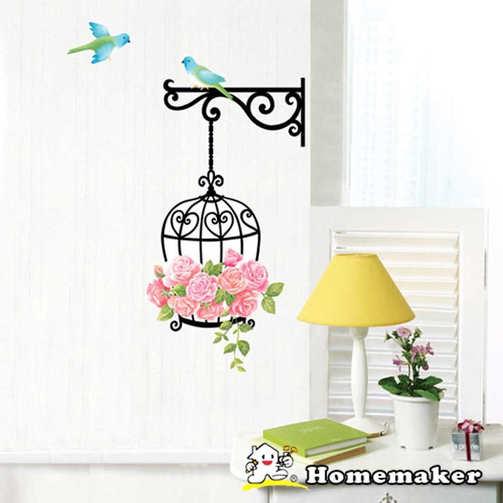 Decoin_青鳥與玫瑰-牆面裝飾創意壁貼(HS-SWST22-1)