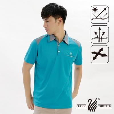 【遊遍天下】男款抗UV吸濕排汗機能POLO衫GS10017孔雀綠