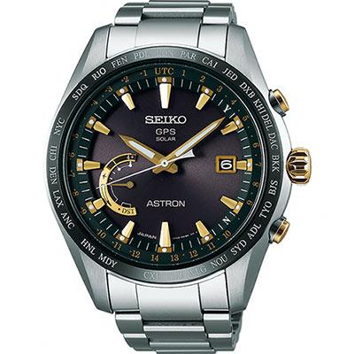 SEIKO 精工 ASTRON GPS 鈦衛星太陽能電波腕錶(SSE087J1)-45mm