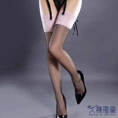 久慕雅黛 魅惑巴黎·蕾絲精緻性感大腿襪。粉蕾絲網襪(甜心粉)