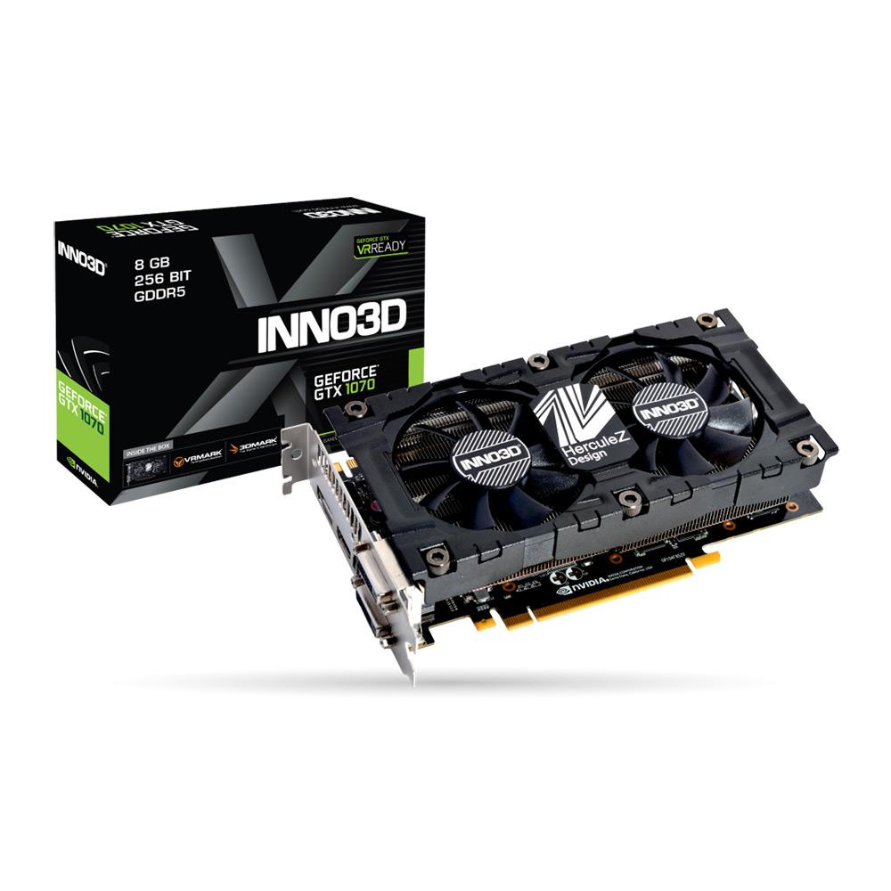 映眾顯示卡INNO3D GeForce GTX 1070 Twin X2