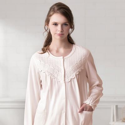 羅絲美睡衣 - 溫柔記憶長袖褲裝睡衣 (粉橘色)