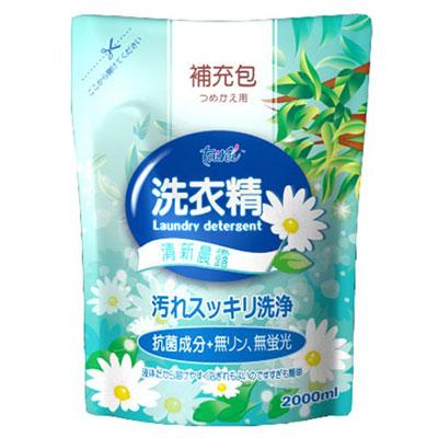 【TAIREI 】清新晨露洗衣精補充包(2000mlx6入)