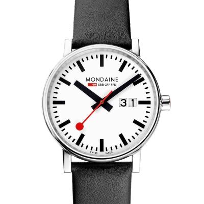MONDAINE 瑞士國鐵 evo2 時光走廊腕錶-白/40mm