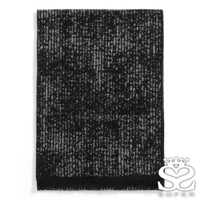 SOFER-暈染雙色100-蠶絲圍巾-星空黑