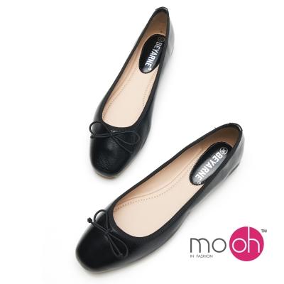 mo.oh-蝴蝶結柔軟舒適記憶墊娃娃鞋-黑