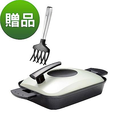 UCHICOOK 新水蒸氣式 健康燒烤蒸煮鍋(黑色)