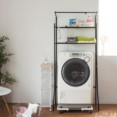 Home Feeling 洗衣機架/衛浴置物架/伸縮(2色)-90X46X184cm