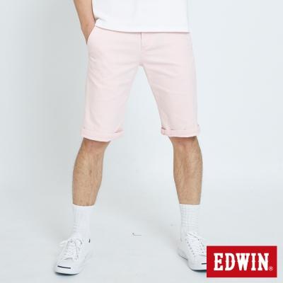 EDWIN 基本鈄袋休閒短褲-男-粉紅色