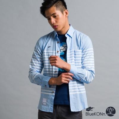 空 BLUE WAY 細條子襯衫