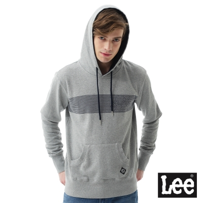 Lee  腳踏車線條連帽厚T恤/RG-男款-灰