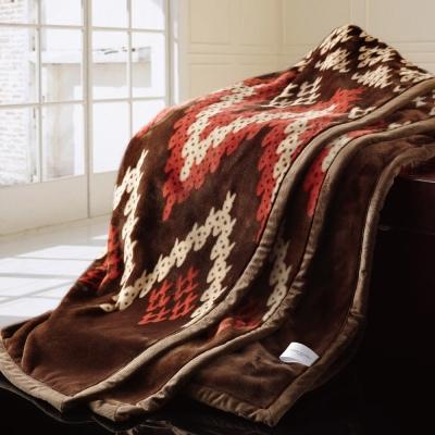 鴻宇HongYew 超細纖維法蘭絨暖毯-法式可可