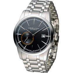 HAMILTON RailRoad系列 小秒針機械錶(H40515131)-黑/42mm