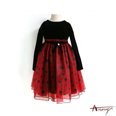 Annys華麗點點澎澎裙洋裝*5210黑