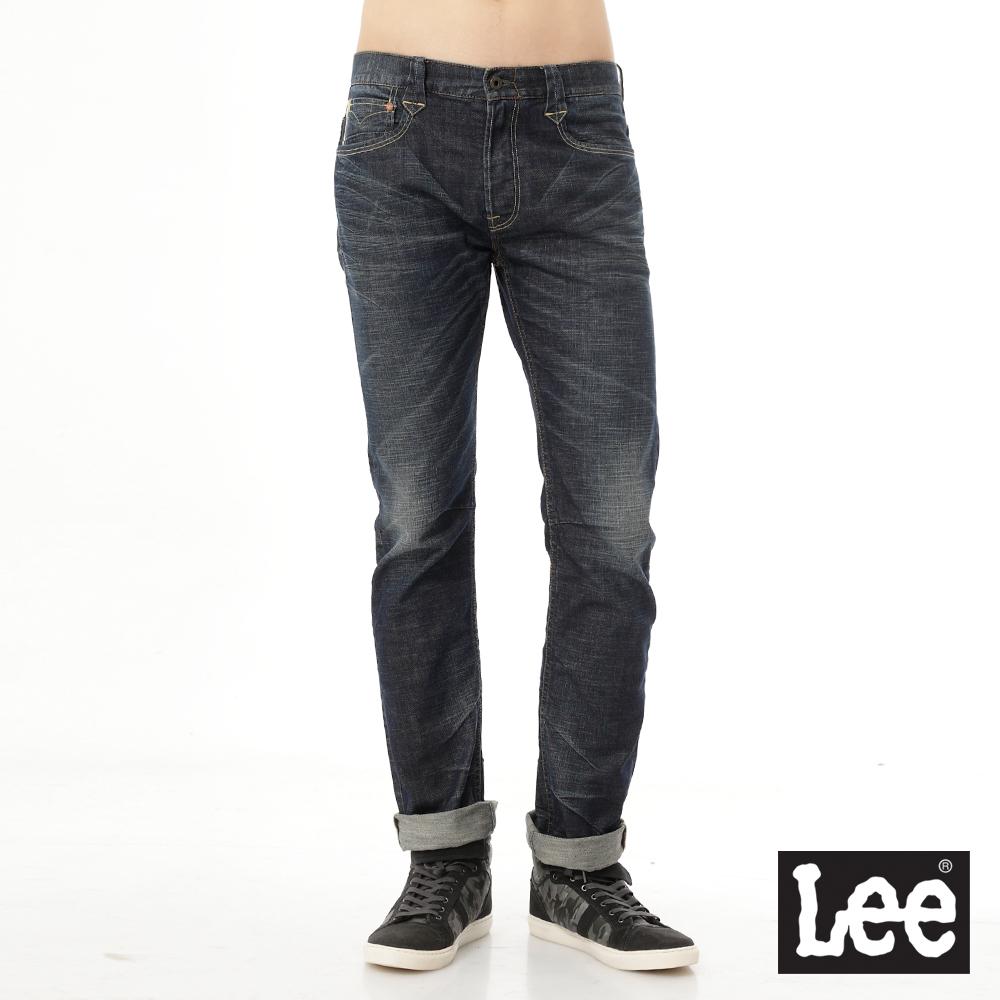 Lee 牛仔褲101+  724 中腰合身標準直筒-男款-藍