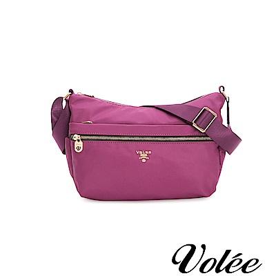 Volee飛行包 - 好旅行系列拉鍊肩背包-葡萄紫