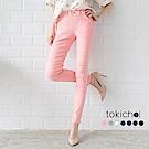 東京著衣 多色完美線條彈力貼身窄管褲-S.M.L(共七色)