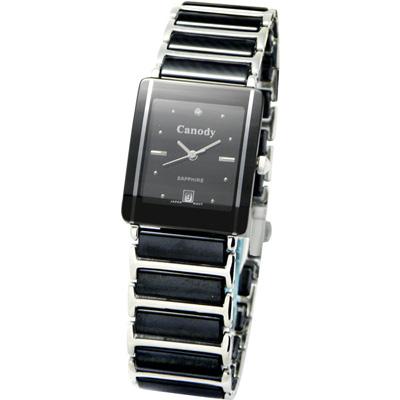 Canody 珍愛時光陶瓷腕錶-黑/24x30mm