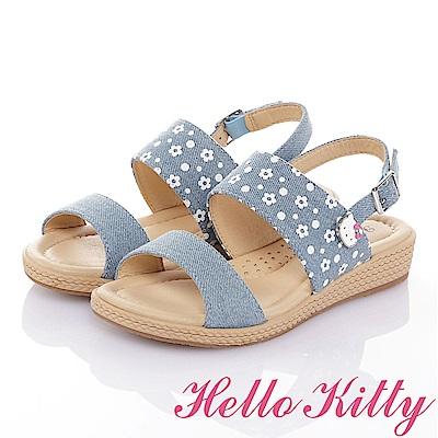 HelloKitty 牛仔布系列 手工鞋紓壓超纖休閒涼鞋童鞋-水
