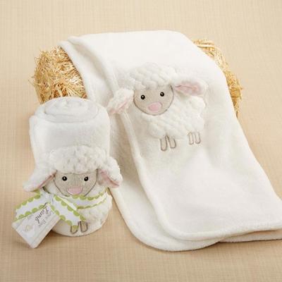 Baby Aspen 小綿羊嬰兒毯彌月禮組