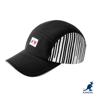 KANGOL-英國袋鼠-街頭系列-迪士尼聯名立體剪裁條紋配色棒球帽-黑色