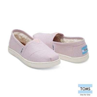 TOMS 素面內鋪毛休閒鞋-孩童款