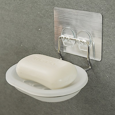 Home Feeling 304不鏽鋼肥皂架可拆洗髮絲2入組13.5x11.7x6
