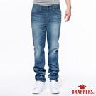 BRAPPERS 男款 HM中腰系列-男用中腰中直筒褲(加大版)-復古藍