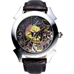 Ed Hardy  嘻皮龐克骷髏刺青超大腕錶