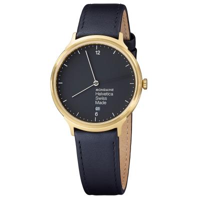 MONDAINE 瑞士國鐵設計系列腕錶-黑/38mm