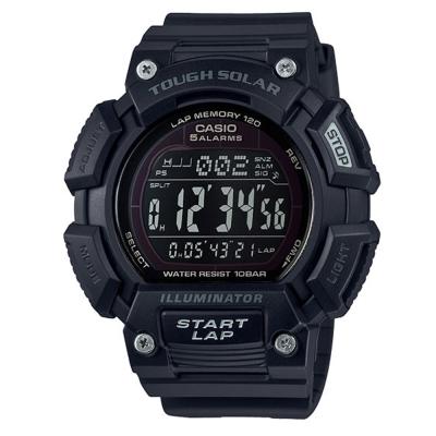 CASIO太陽能全方位亮眼配色運動風數位錶(STL-S110H-1B2)全黑/52.7m