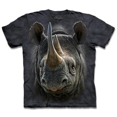 摩達客 美國進口The Mountain 黑犀牛  純棉環保短袖T恤