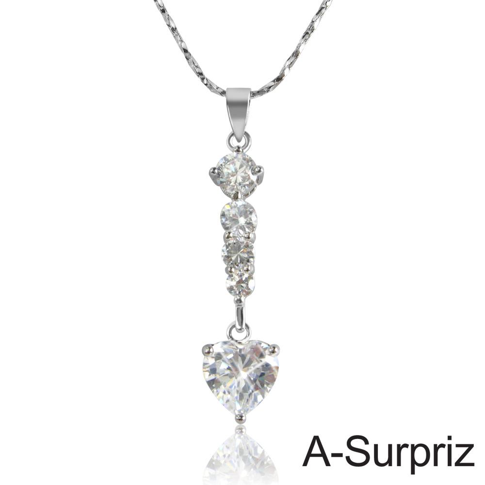 A-Surpriz 心動愛戀晶鑽項鍊